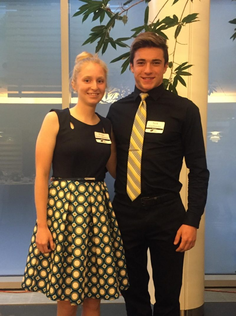 Renee Sollenberger, 12, and Nick Garbinski, 12, are two of the honored recipients of the LenFest Scholarship.