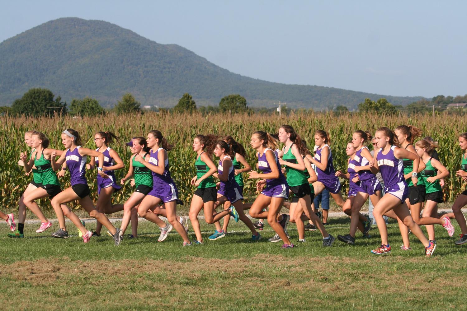 James Buchanan girls start their race against the Boiling Spring bubblers on Tuesday Sept. 19.