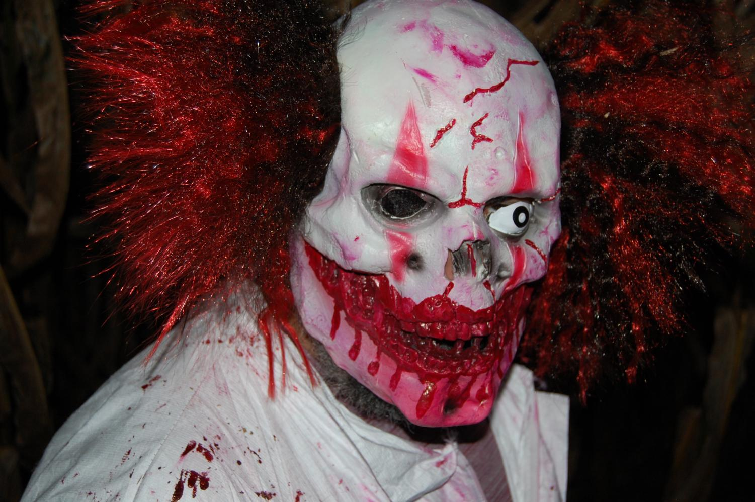 """During the Haunted Hayride at Stoner's Dairy Farm, one of the volunteers roams and creates fear amongst visitors. """"There are a good amount of scares,"""" says Owen Stoner (11), """"We have a lot of people in the maze."""""""