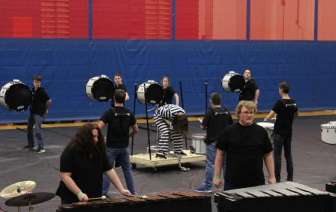 JBHS Indoor Guard and Percussion: You may now take the floor for Competition