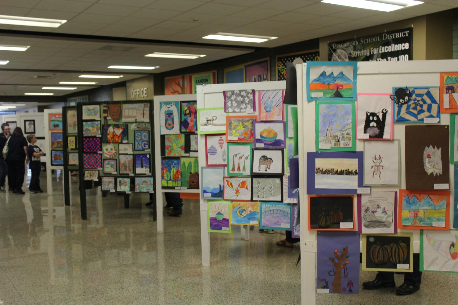 During Ensemble of the Arts, there was artwork accepted from all of the schools in the district.