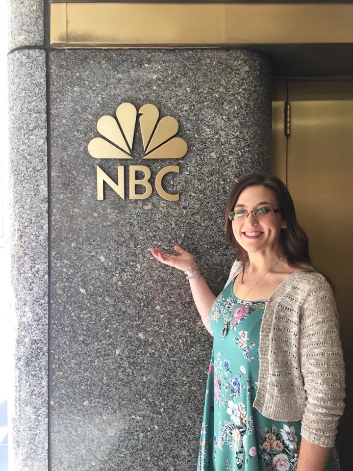 Ms. May outside of NBC studios.