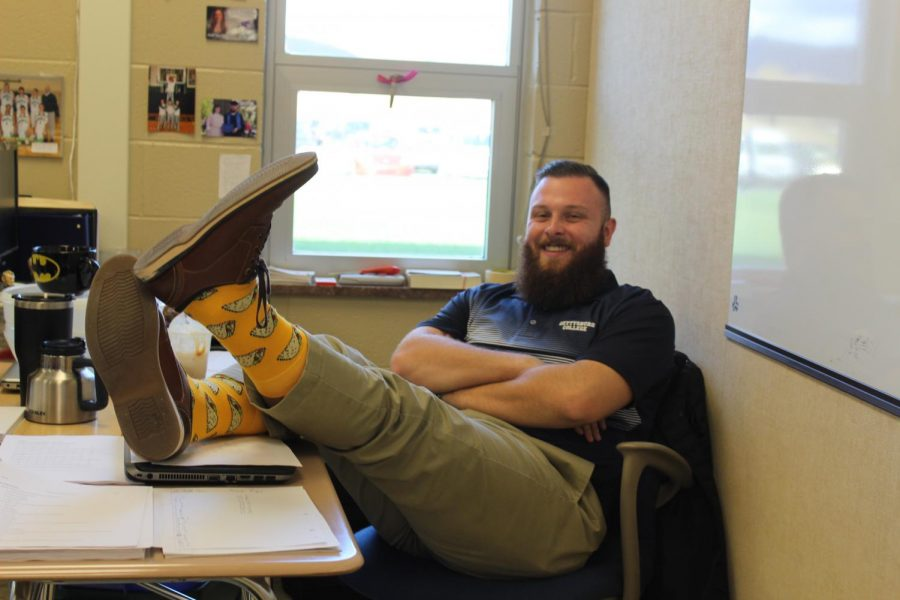 On+his+last+day+at+JBHS%2C+Mr.+Colby+Sites+%28Faculty%29+shows+off+his+crazy+taco+socks.+